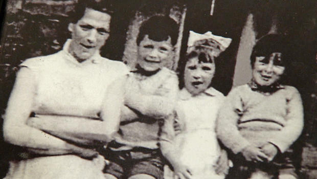 An undated family photo shows Jean McConville with three of her children