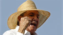 Cuba's president, Raul Castro, attends a May Day parade in Havana May 1, 2014.