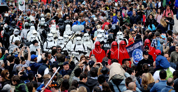 Fans celebrate Star Wars Day