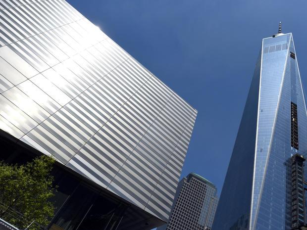 2014年5月13日的媒体之旅期间,国际9月11日纪念馆和博物馆将在世贸中心旁边展出。