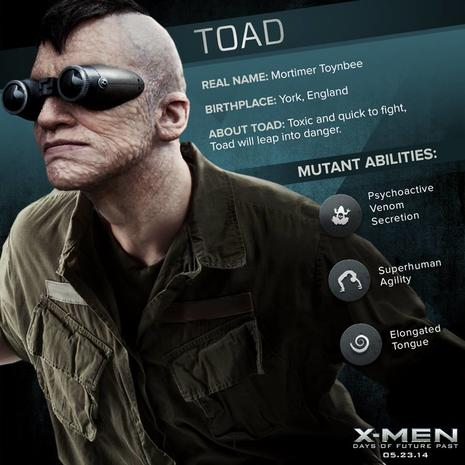 X Men Days Of Future Past Bishop Toad - The mutants of ...