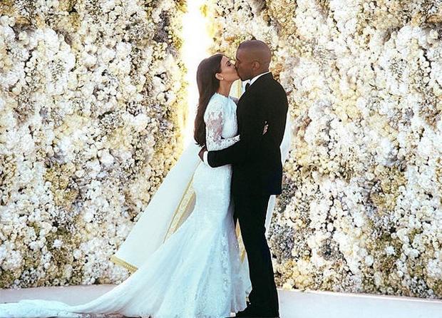 At Kim and Kanye's wedding