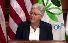 "EPA head: Critics of carbon limits sound like ""a broken record"""