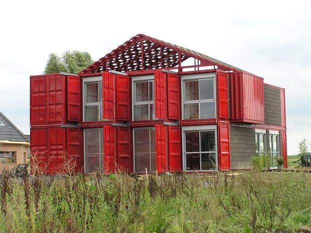7 homes built with shipping containers cbs news. Black Bedroom Furniture Sets. Home Design Ideas