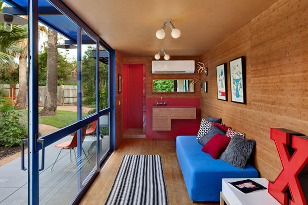 7 homes built with shipping containers cbs news - Shipping containers converted into homes ...