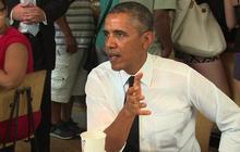 Obama treats himself to a Chipotle burrito bowl