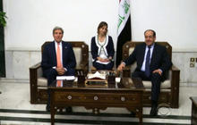 "Kerry cautions against ""a few strikes"" by U.S. in Iraq"