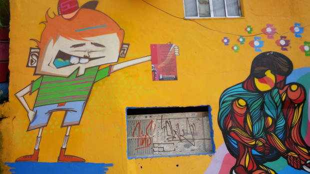 Street art surrounds the World Cup