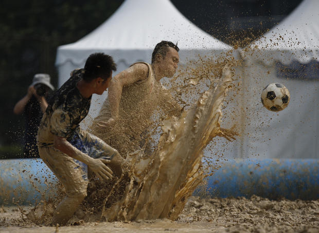 Swamp soccer: World Cup's down and dirty cousin