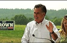 Stumping for Scott Brown, Mitt Romney blasts N.H. Sen. Jeanne Shaheen
