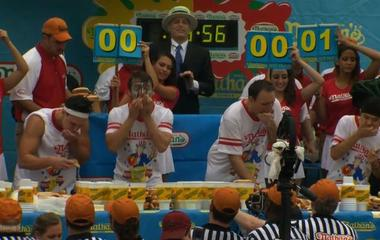 Fourth of July tradition: Nathan's famous hot dog eating competition