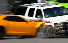 """Police SUV Crashes on """"Transformers 3"""" Set"""