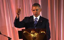 "President Obama toasts the ""new Africa"""