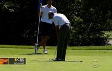 Obama monitors Iraq crisis while on vacation at Martha's Vineyard