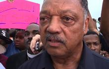 Jesse Jackson marches with protesters in Ferguson