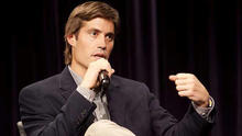 U.S. journalist James Foley speaks at Northwestern University's Medill School of Journalism, Media, Integrated Marketing Communications in Evanston, Illinois, after being released from imprisonment in Libya in this 2011 handout photo provided by Northwest