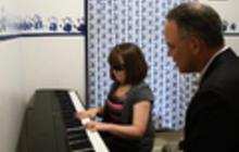 Web Extra: Marlana shows her piano skills