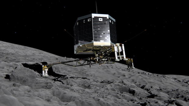 Us First Space Probe : Rosetta space probe scopes out landing zone on comet cbs