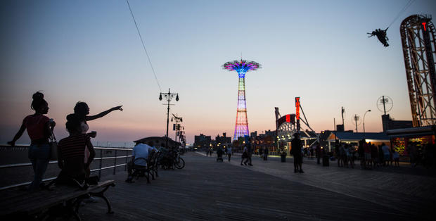 Coney Island by night