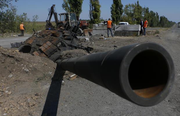 Russia rolls into Ukraine