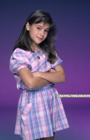alyssa milano then quotwhos the bossquot then and now