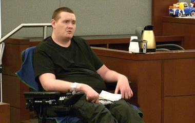 Kevin Cooney testifies in defense of his mother