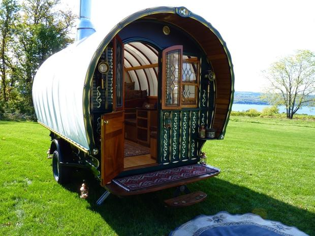Quot Gypsy Quot Caravans Make A Comeback As Micro Homes Cbs News