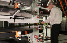 """In the 70mm IMAX projection booth with """"Interstellar"""""""