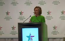 Hillary Clinton silent on Keystone XL pipeline in conservation speech