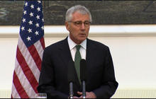 Chuck Hagel addresses the Luke Somers raid