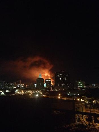 Massive fire burns in downtown L.A.