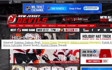 Mumps outbreak hits NHL hockey teams