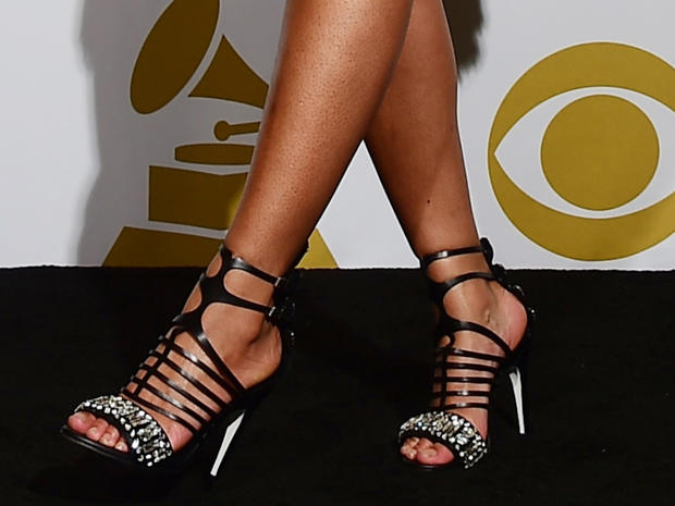 Beyonce Famous Feet High Heels On The Red Carpet