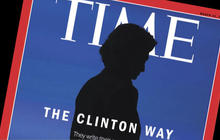 """Time cover appears to show """"horns"""" on Hillary Clinton"""