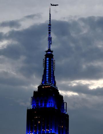 Landmarks light up for Autism Awareness Day