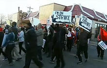 Workers protest for $15 minimum wage