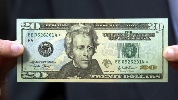 A woman on the 20 bill cbs news for Twenty pictures