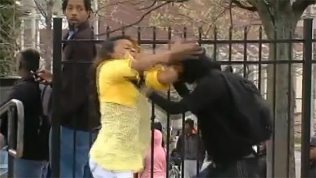 Baltimore mom caught smacking rioting son draws praise ...