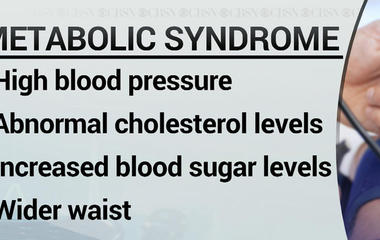 Research shows that more than one-third of adults have metabolic syndrome