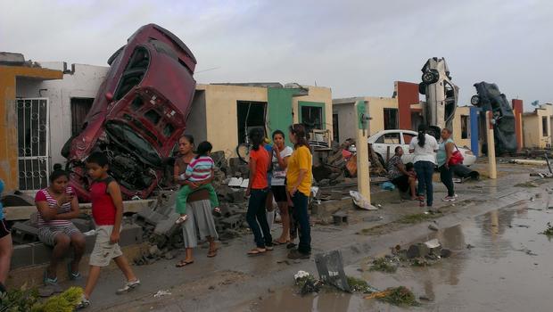 Tornado kills 13 in Mexico border city; 12 missing in Texas - CBS News