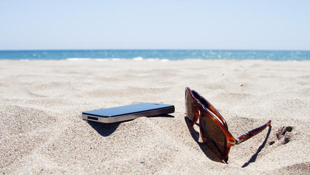 Smartphone in the sand