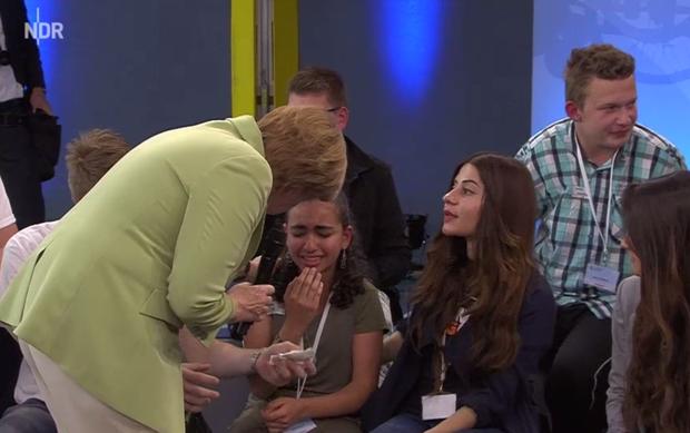 image Refugees enjoy german teen