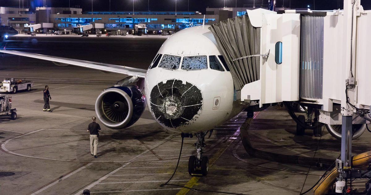 Delta Flight Pounded With Hail Lightning From Boston To