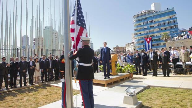U.S. and Cuba reopen embassies