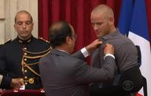 Three Americans honored for bravery in France