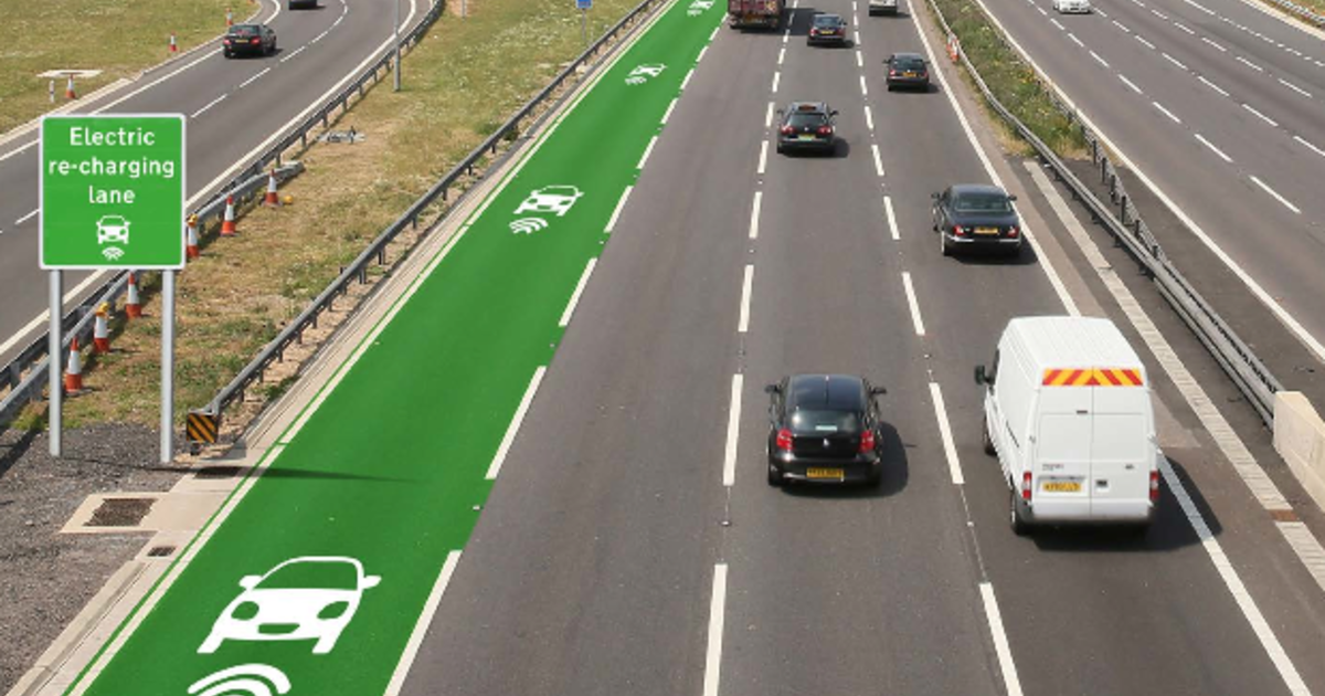 England will test electric car charging lanes - CBS News
