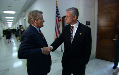 Kroft confronts a congressman