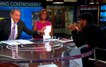Charlie Rose gives money to Spike Lee's Kickstarter on-air