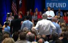 "Ted Cruz faces hecklers at ""Obamacare"" town hall"