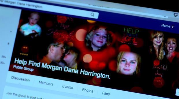 哈灵顿利用社交媒体帮助寻找他们的女儿摩根